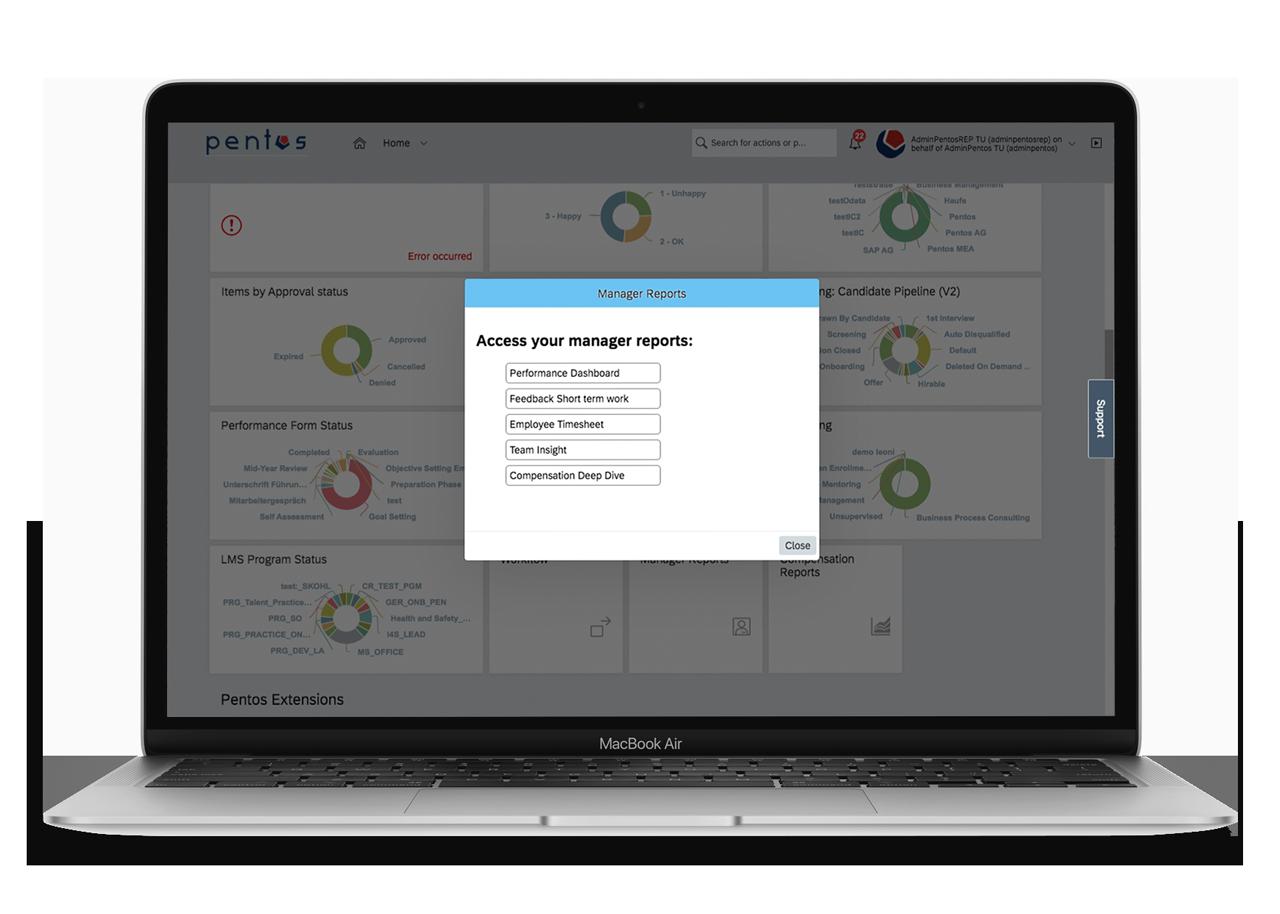 SAP SuccessFactors Report Quick Links List