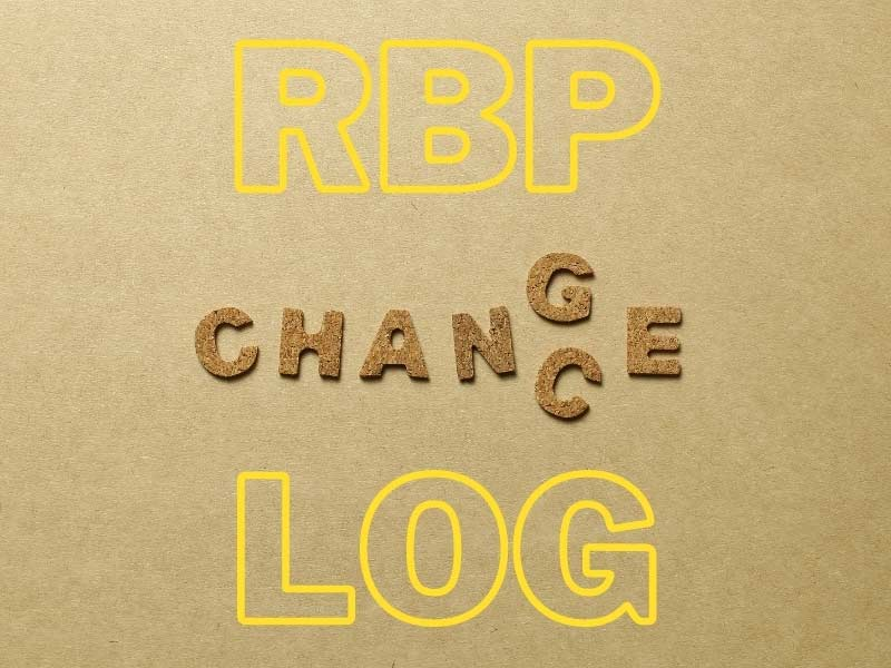 RBP Change Log